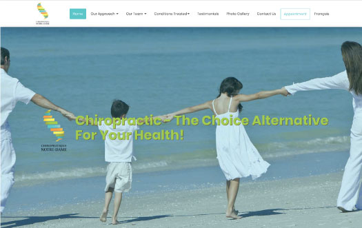 Chiropratique website by Perpetual Solution