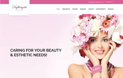 beauty website by Perpetual Solution